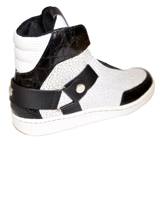Just Cavalli Leather Upper High-Top Sneakers