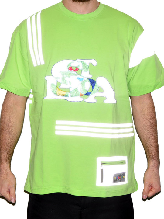 Cotton-Lycra Tee Shirt With Reflective Details