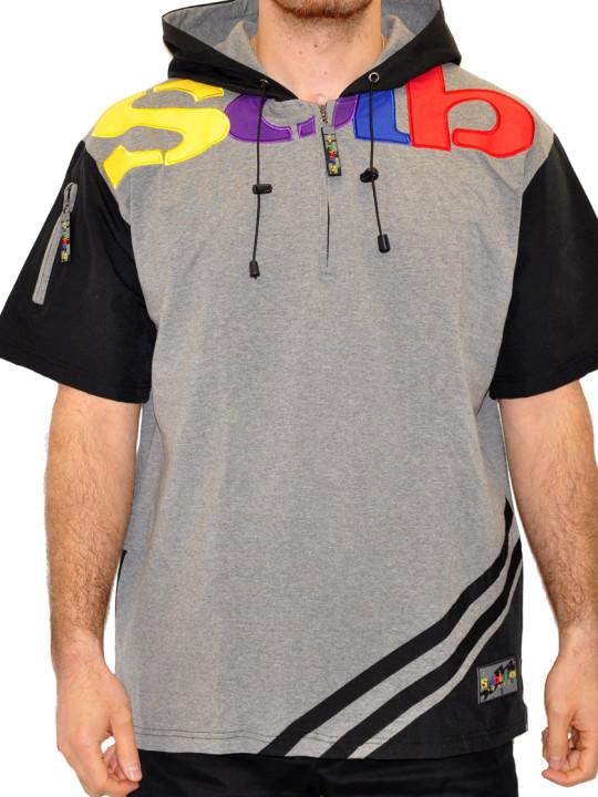 Solbiato Cotton-Lycra Hoodie Tee Shirt