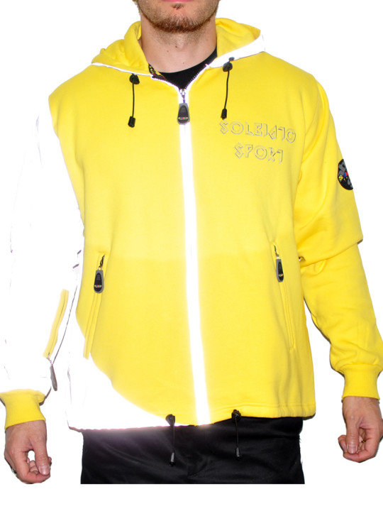 Fleece Full Zip Hoodie With Reflective DetailsFleece Full Zip Hoodie With Reflective Details