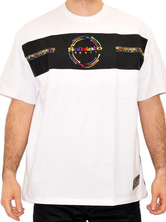 Solbiato Cotton-Lycra Tee Shirt With Nylon Details