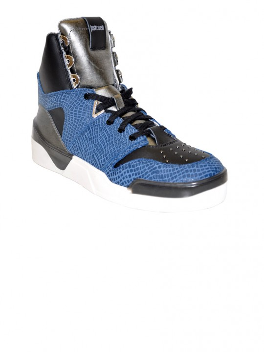 Just Cavalli Python Print High-Top Sneakers