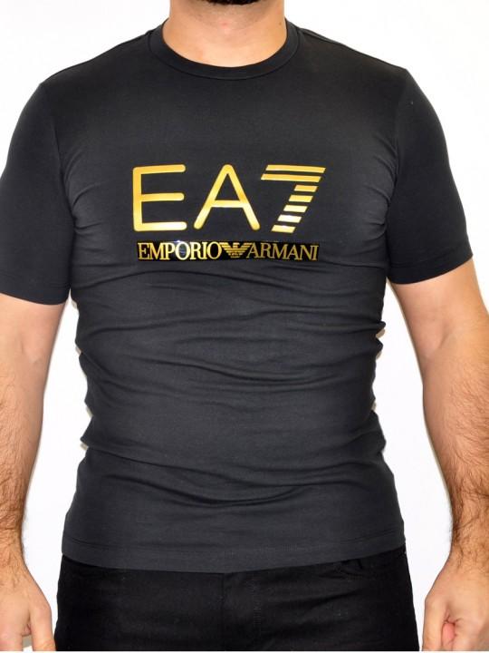 ARMANI-EA7-T-shirt-Black-Front