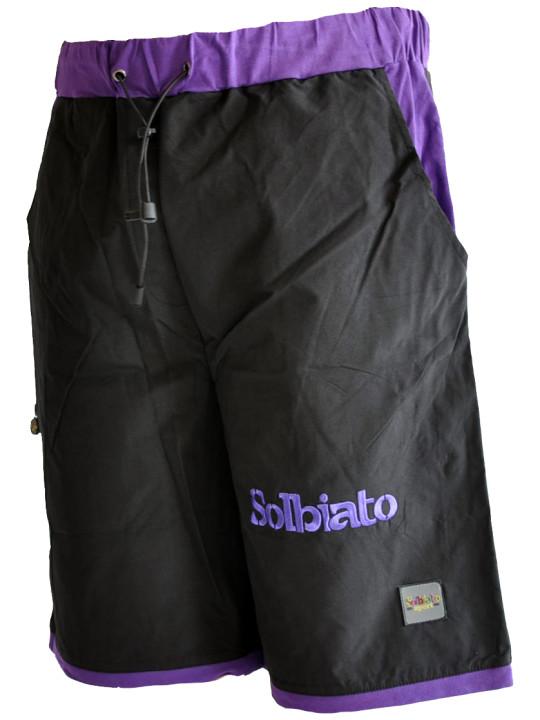 Solbiato Kids Nylon Shorts With Cotton-Lycra Details