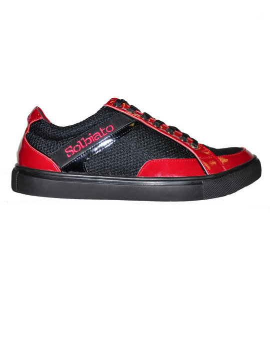 Solbiato Low-Top Patent Leather & Mesh Shoe