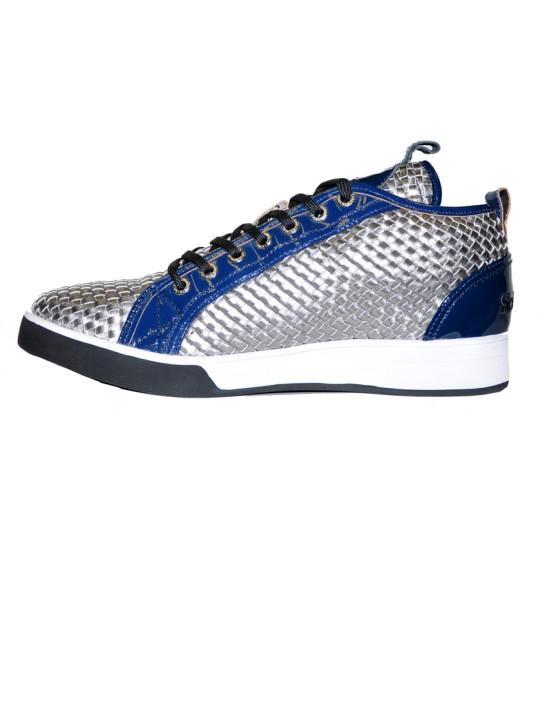 Solbiato High-Top Patent Leather & Mesh Shoe
