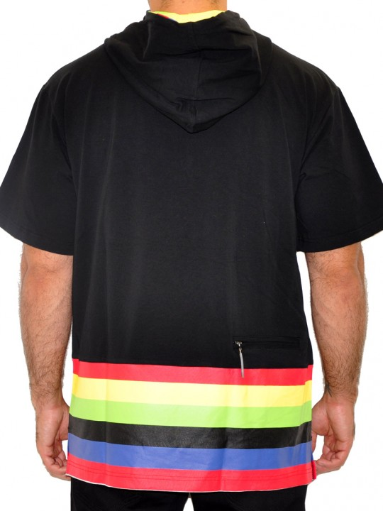 Disco - Solbiato Cotton-Lycra Hoodie Tee Shirt