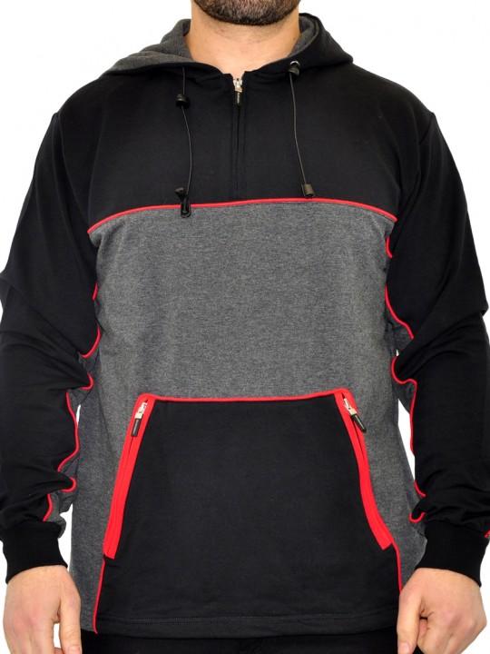 sl-shift-half-zip--ls-hoodie-red-front