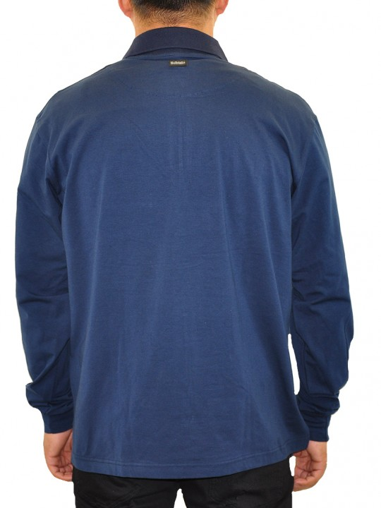 SL-Hex-polo-navy-back