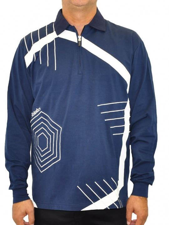 SL-Hex-polo-navy-front