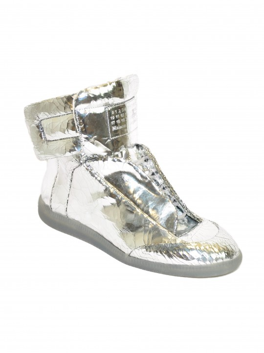 Maison Margiela Silver Metallic  Future High-Top Sneakers