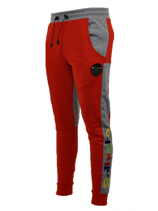 SOLBIATO_SPORT_FW18_JOGGERS_FADE_RED_FRONT