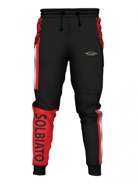 SOLBIATO_SPORT_PLATER_RED_PANTS_JOGGERS_FRONT